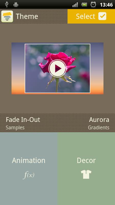 Android SlideFX Video Creator Screen 9