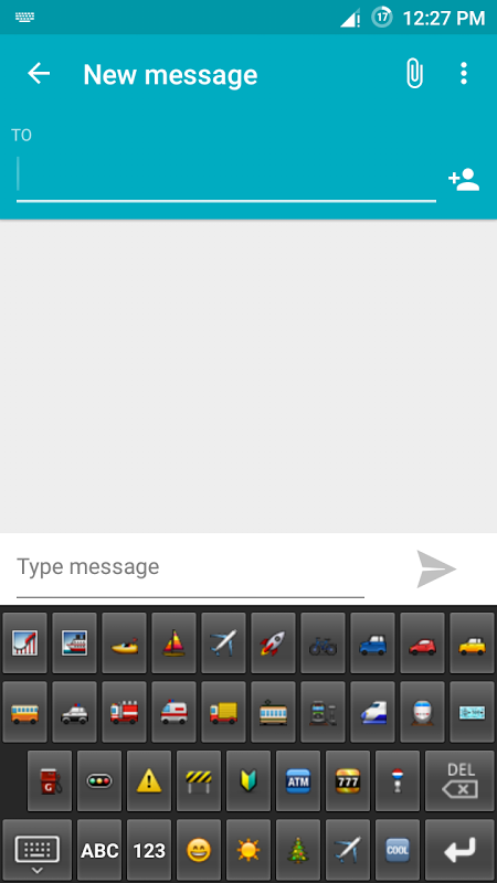 Android Emoji Keyboard Screen 6