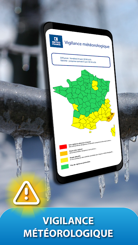 Android METEO FRANCE Screen 1