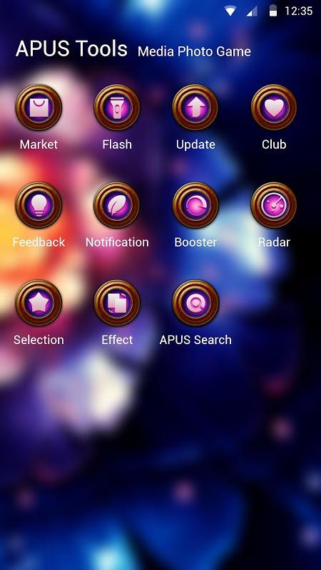 Android Razortail-APUS Launcher theme Screen 2