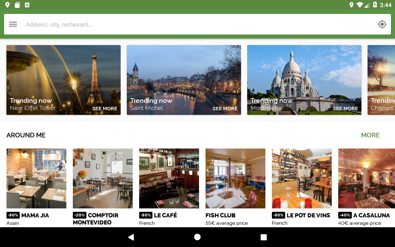 Android TheFork - Restaurants booking Screen 5