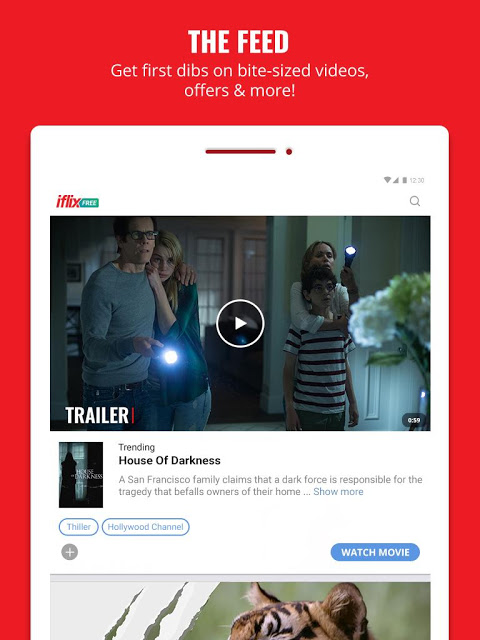 Android iflix Screen 1