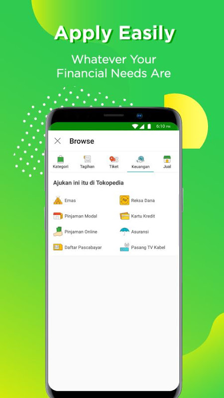 Android Tokopedia - Online Shopping & Mobile Recharge Screen 6