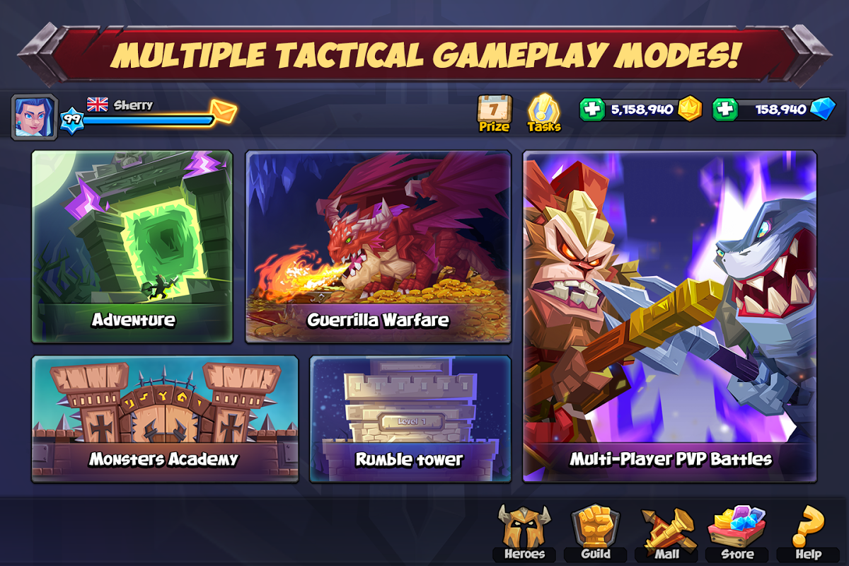Android Tactical Monsters Rumble Arena - Tactic & Strategy Screen 9