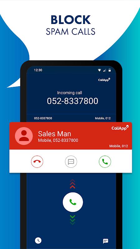 Android CallApp: Caller ID, Call Blocker & Recording Calls Screen 5