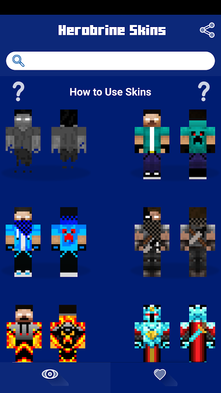 Android Herobrine Skins Screen 1
