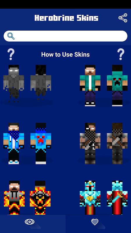Herobrine Skins 1.0 Screen 1
