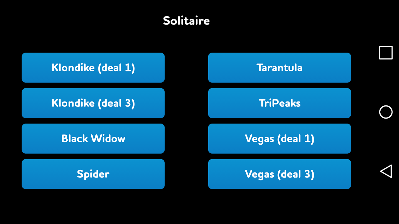 Solitaire 1.1.2 Screen 1