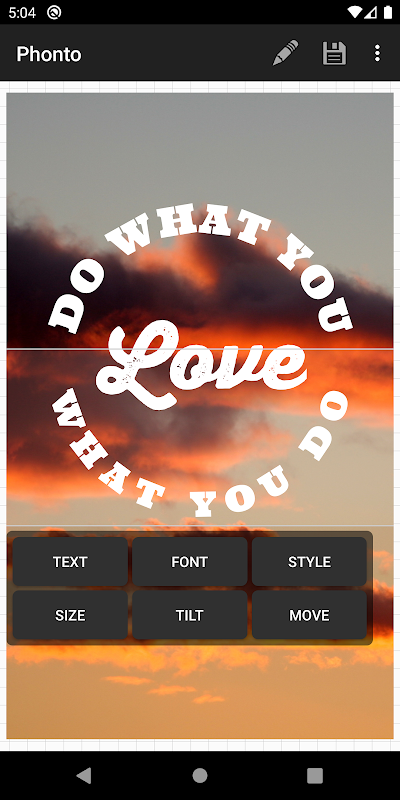 Android Phonto - Text on Photos Screen 5