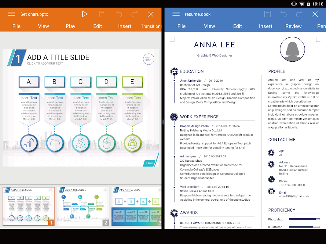 Android WPS Office + PDF Screen 8
