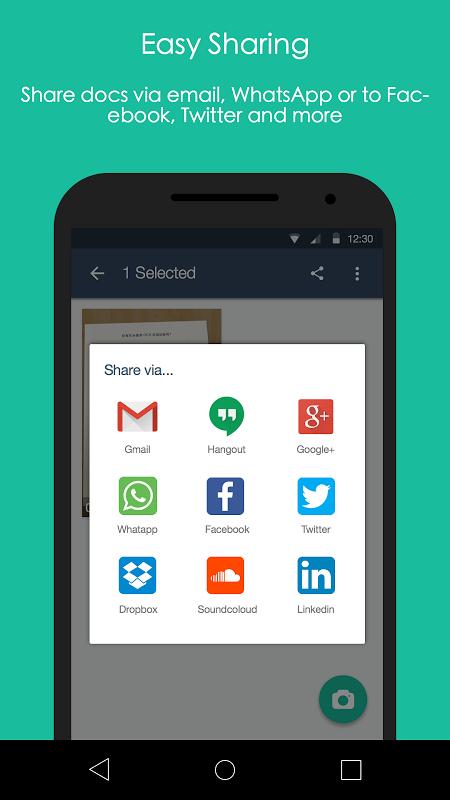 Android CamScanner -Phone PDF Creator Screen 1