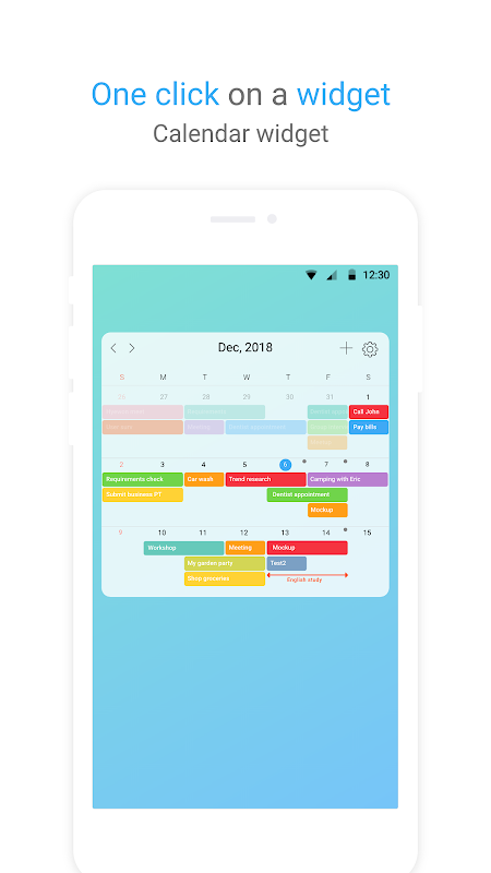 Android TimeBlocks -Calendar/Todo/Note Screen 4