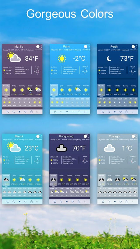 Android Weather 2 weeks Screen 3
