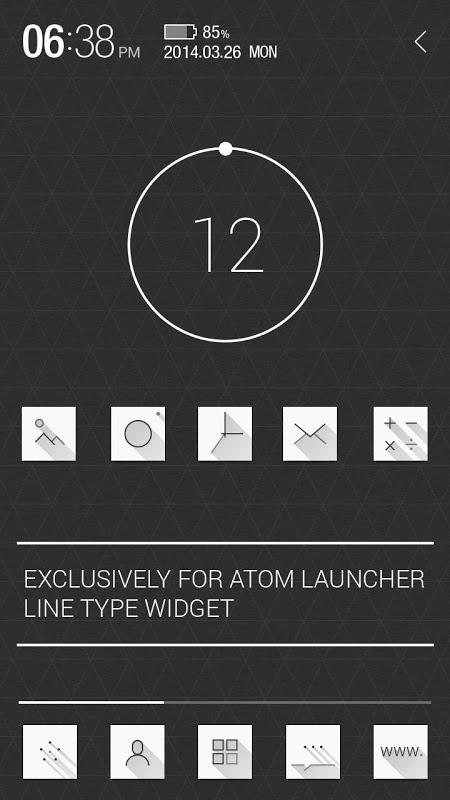 Android Atom All in One Widgets Screen 5