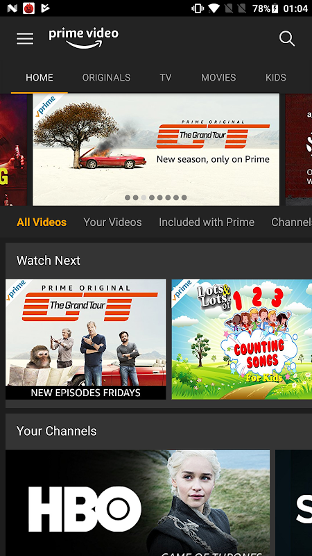 Android Amazon Prime Video Screen 1