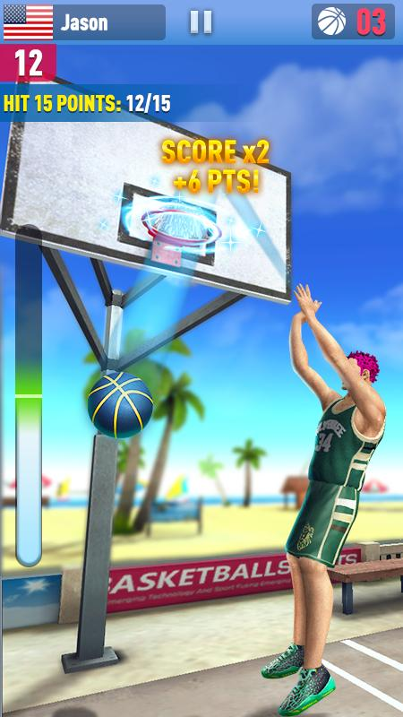Android Basketball Shoot 3D Screen 4