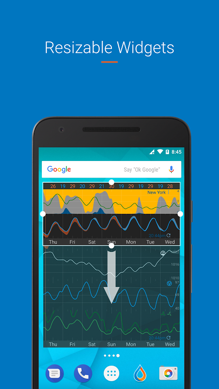 Android Flowx: visual long range weather forecast Screen 5
