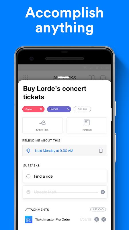 Any.do: To-do list, Calendar, Reminders & Tasks 4.12.0.5 Screen 6