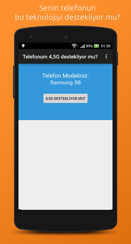 Telefonum 4,5G destekliyor mu? 1.0.6 Screen 1