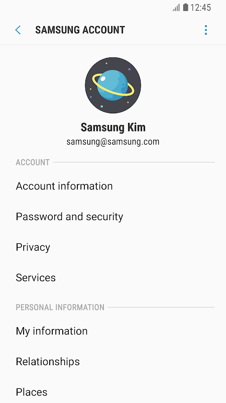 Android Samsung Experience Service Screen 3