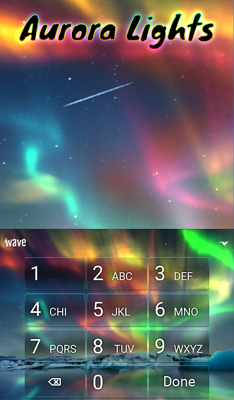 Android Aurora Light Animated Keyboard Screen 4