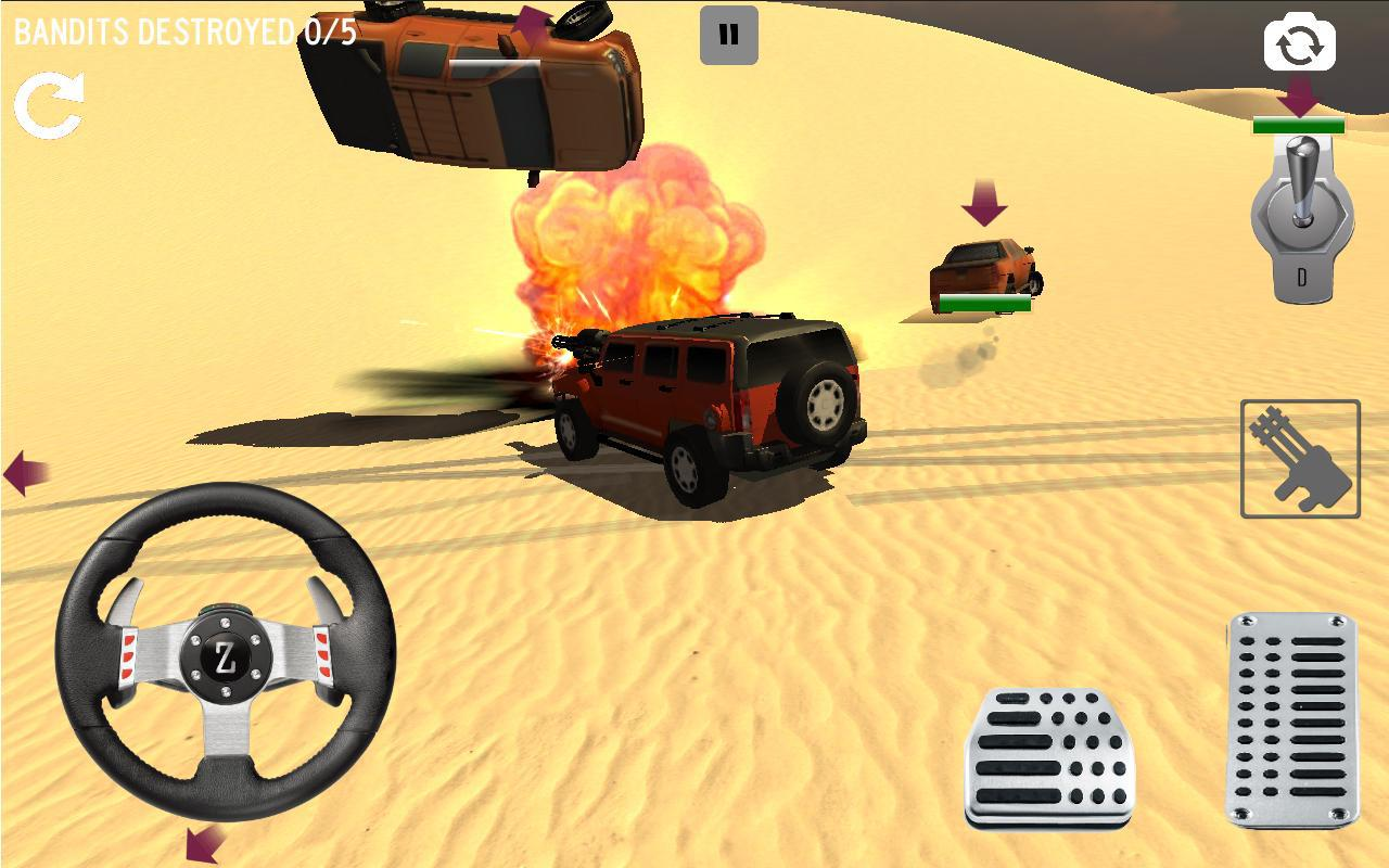 Android 4x4 Desert Safari Attack Screen 5