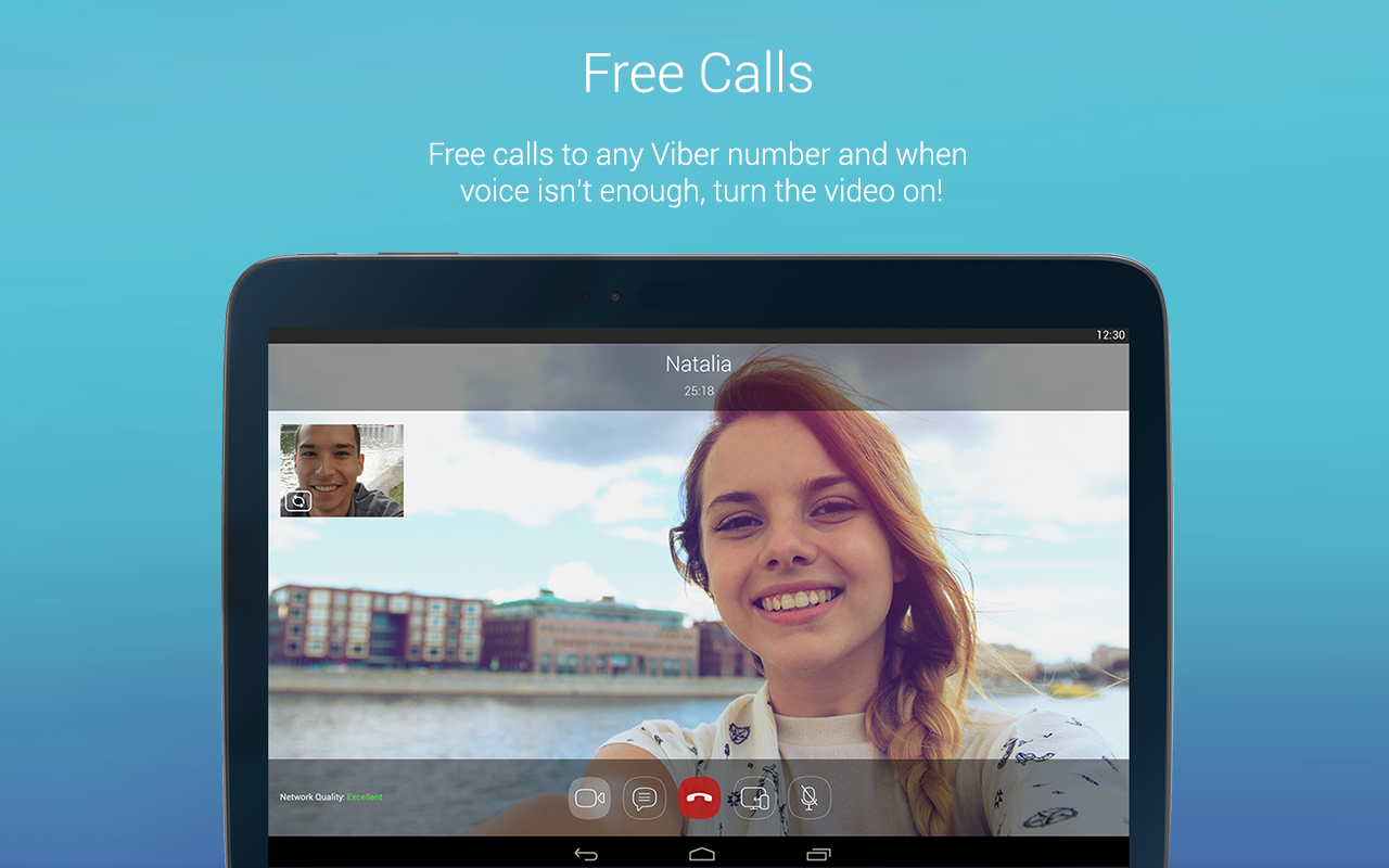 Android Viber Messenger: Text, call and make video calls Screen 1