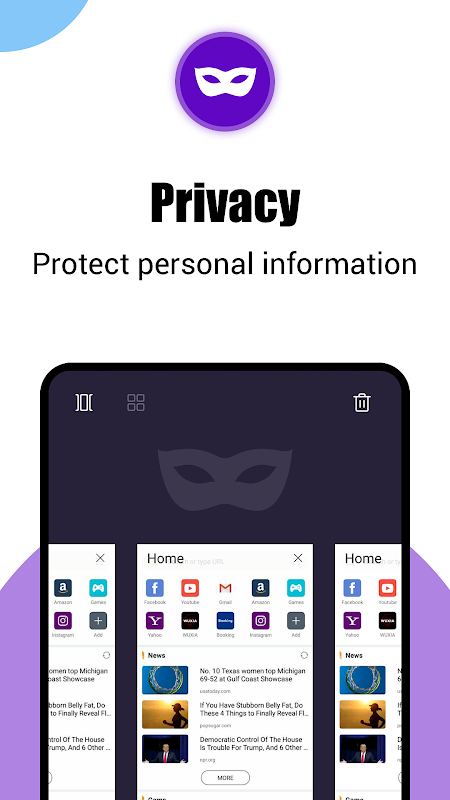 Phoenix browser-Fast browsing & Data saving V9.9.9 Screen 3