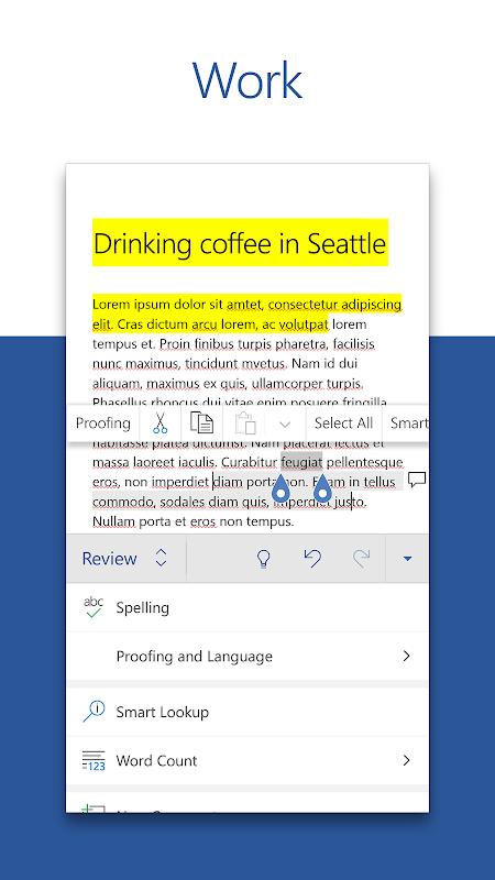 Microsoft Word 16.0.11601.20074 Screen 3
