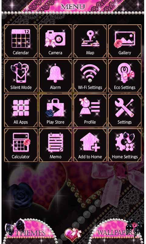 ★FREE THEMES★Sparkling Heart 1.0 Screen 2