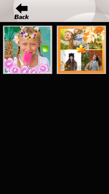 Android Four Seasons Photo Collage Screen 7