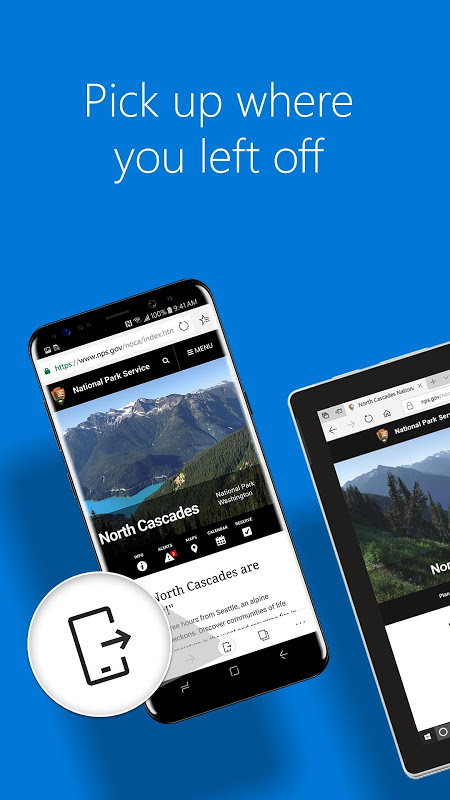Android Microsoft Edge Screen 1