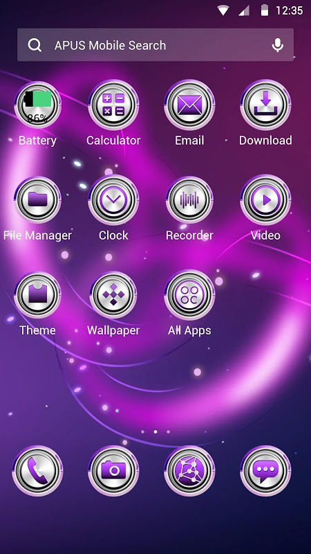 Dazzling light Theme 2 Screen 1