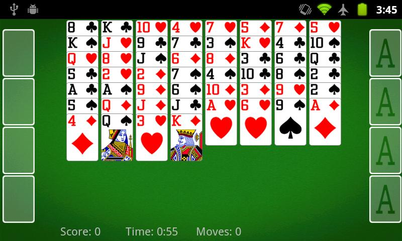 FreeCell Solitaire 2.2.2 Screen 3