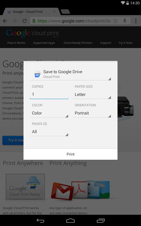 Cloud Print 0.9.8 Screen 7