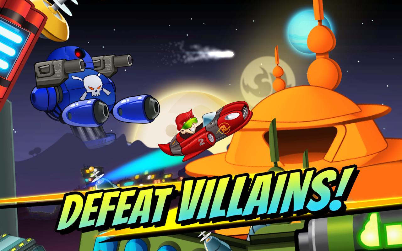 Android Superheroes Car Racing Screen 1