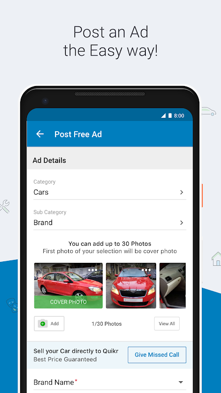 Android Quikr – Search Jobs, Mobiles, Cars, Home Services Screen 6