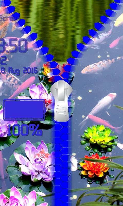 Android Lotus Zipper Lock Screen Screen 6