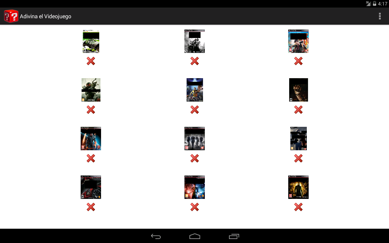 Android Guess the Game Screen 1