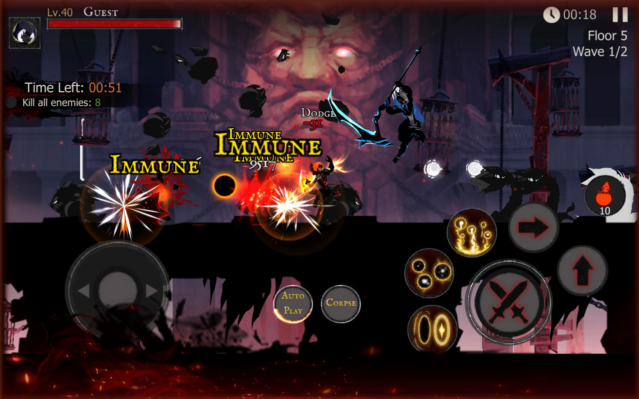 Shadow of Death: Dark Knight - Stickman Fighting 1.42.0.3 Screen 1