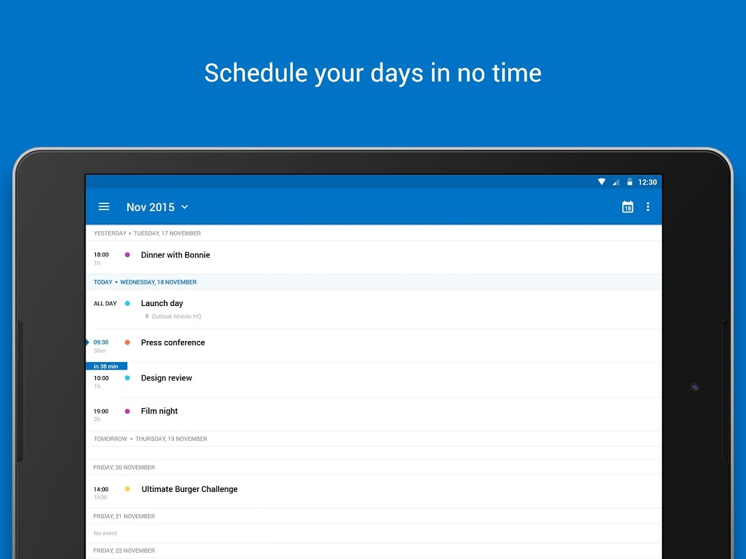 Microsoft Outlook 2.2.118 Screen 2