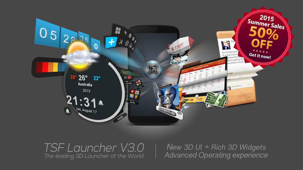 Android TSF Launcher 3D Shell Screen 7