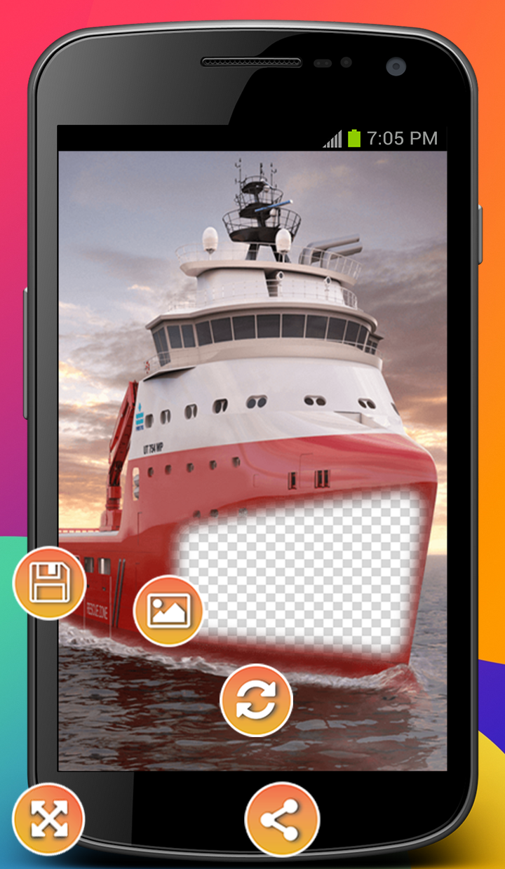 Android Hoarding Ship Photo Montage Screen 2