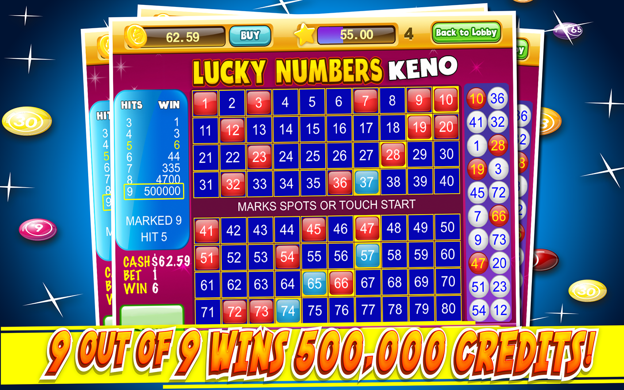 Android Las Vegas Keno Numbers Free Screen 8