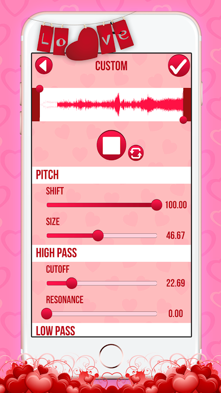 Love Voice Changer Recorder 2.0 Screen 3