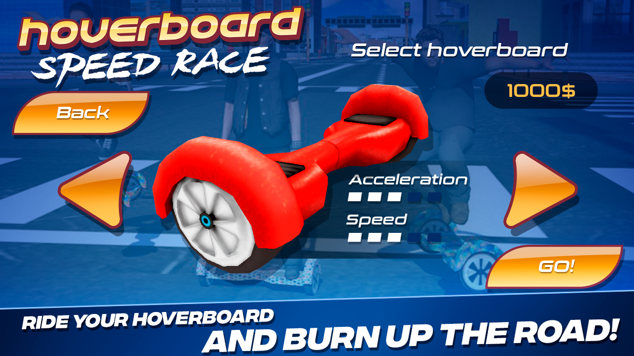 Android Hoverboard Speed Race Screen 1