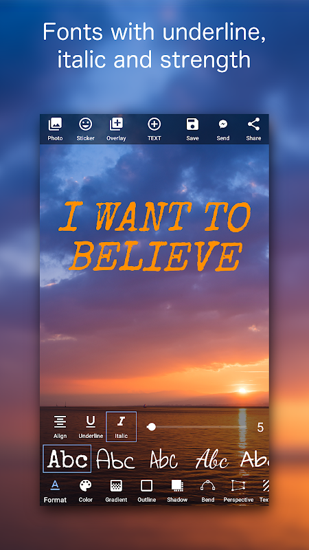 Add Text on Photo: Graphic Design with 800+ Fonts 4.2.1 Screen 1