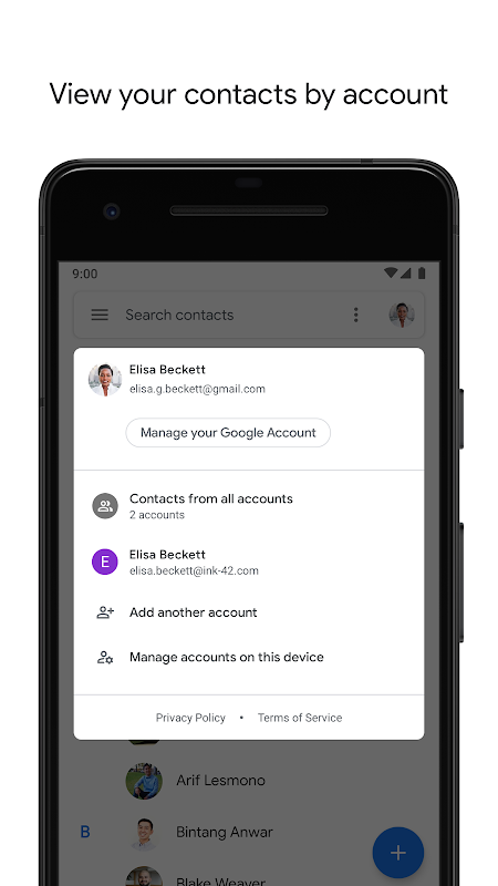 Contacts 3.5.51.247103087 Screen 1
