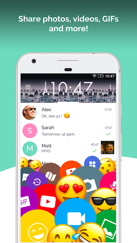Android Mood Messenger - SMS & MMS Screen 2