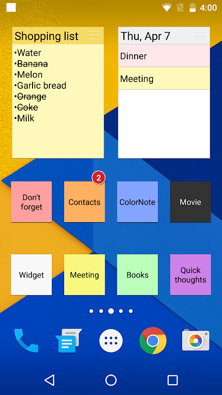 ColorNote Notepad Notes To do 4.0.7 Screen 1